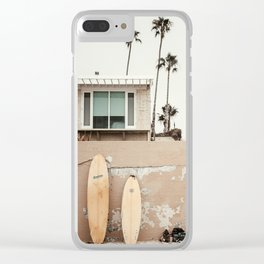 San Diego Surfing Clear iPhone Case