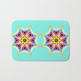Decorative colourful silky star Bath Mat