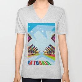 Toraja Land In Pop Art Unisex V-Neck