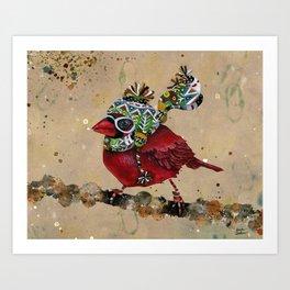 Cardinal Blaze 2 Art Print