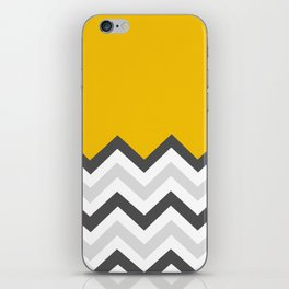 Color Blocked Chevron 17 iPhone Skin