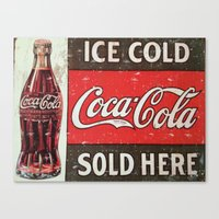 coke Canvas Prints featuring Coke by R&R.