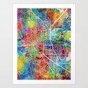 Boulder Colorado City Map by artpause