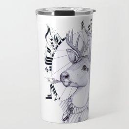 Deer in Dress Code  Travel Mug