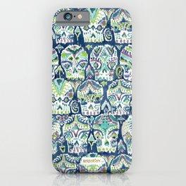 Indigo CARPE DIEM SKULLS Watercolor iPhone Case