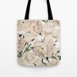 Peonies Pattern Tote Bag