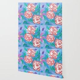 Dreamy Rose Garden Nights Wallpaper