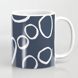 Daisy Circles Navy Coffee Mug
