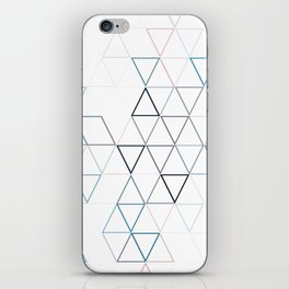 TRIANGLES IN BLUE iPhone Skin