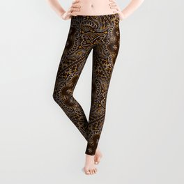 Brown Bandanna Pattern Leggings