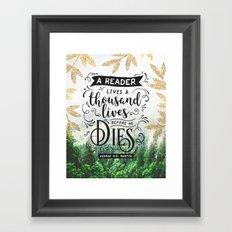 Thousand Lives Framed Art Print