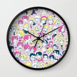 Hetaheads PINK Wall Clock