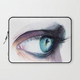 Blue Green Eye Laptop Sleeve