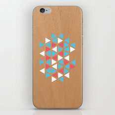 Triangle/wood iPhone Skin