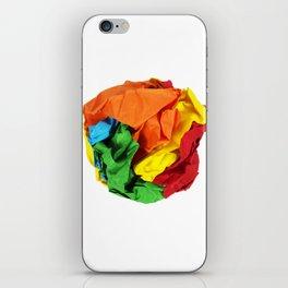 Crumpled paper ball iPhone Skin