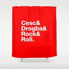Cesc & Drogba & Rock & Roll Shower Curtain