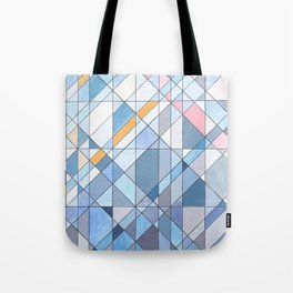 Triangle Pattern no.17 Light Blues Tote Bag