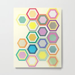 Honeycomb Layers II Metal Print