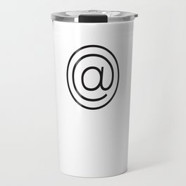 @ Symbol Typography Travel Mug