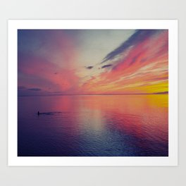 Sunset of Color Art Print