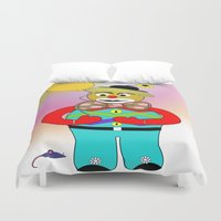 clown Duvet Covers featuring Clown by LoRo  Art & Pictures