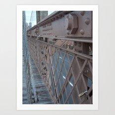 Brooklyn Bridge, New York City, Structural Architecture Art Print