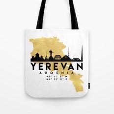 YEREVAN ARMENIA SILHOUETTE SKYLINE MAP ART Tote Bag