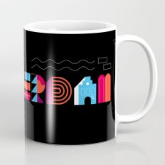 Postcards from Amsterdam / Typography Mug
