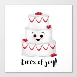 Tiers Of Joy! Wedding Cake Canvas Print