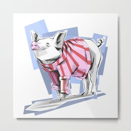Bacon Is Cold Metal Print