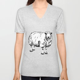 Sheep Sheep. Unisex V-Neck
