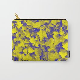 YELLOW BLUE IVY Carry-All Pouch