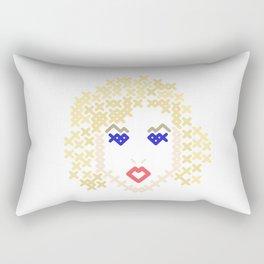 Sensual blonde Rectangular Pillow