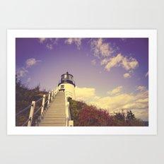Maine Coast Lighthouse Art Print