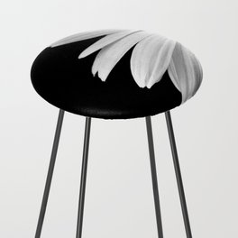 Half Daisy in Black and White Counter Stool