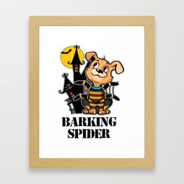 Barking Spider Halloween Design for Dog Lovers Light Framed Art Print