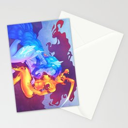 Iika and Ifrys - Fire and Ice Stationery Cards