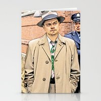 leonardo dicaprio Stationery Cards featuring Leonardo DiCaprio in Shutter Island - Colored Sketch Style by ElvisTR