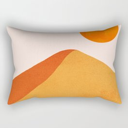 Abstraction_Mountains_SUN_Minimalism_01 Rectangular Pillow