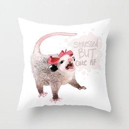 Cute AF Throw Pillow