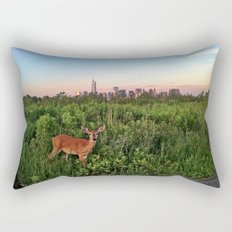 The NYC Deer Rectangular Pillow