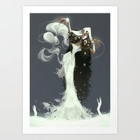 witch Art Prints featuring Witch by Julia Lullaby