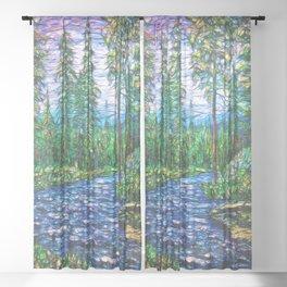 Summertime Magic  Sheer Curtain