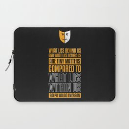 Lab No. 4 What Lies Behind Us Ralph Waldo Emerson Life Inspirational Quote Laptop Sleeve