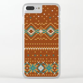Pattern in Grandma Style #50 Clear iPhone Case