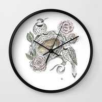 guardians Wall Clocks featuring Guardians by KC Gillies