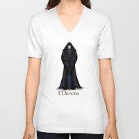 valar morghulis V-neck T-shirts featuring Mandos by wolfanita