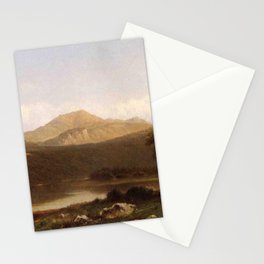 View Of Mt Lafayette New Hampshire 1867 By David Johnson | Reproduction | Romanticism Landscape Pain Stationery Cards