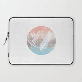 Feather Watercolor Laptop Sleeve