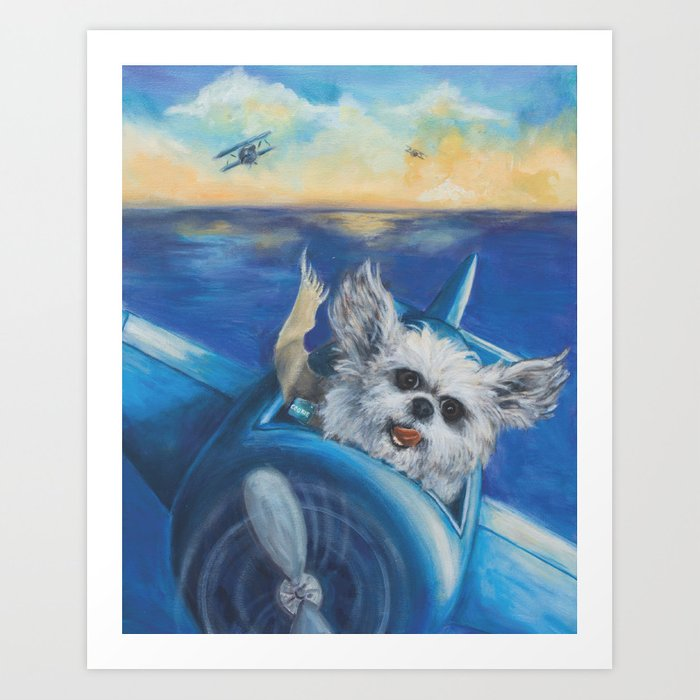 Cookie the Fighter Pilot Art Print